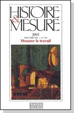 Couverture de la revue Histoire et mesure